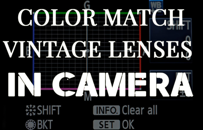 Color matching vintage lenses